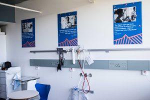 plakater på sygehuset der fortæller om chemo to go